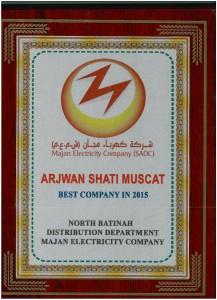 Majan-Best company 2015